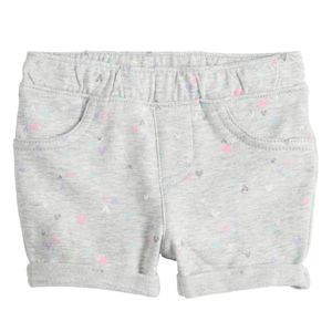 Baby Girl Jumping Beans Gray Cuffed Shorts